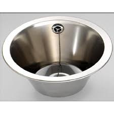 Fitmykitchen Finr Round Inset Bowl Mm Diameter Stainless - Round sinks kitchen