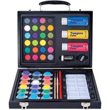 art 101 52 piece deluxe art and washable paint set in wood case