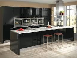 black modern kitchen interior design