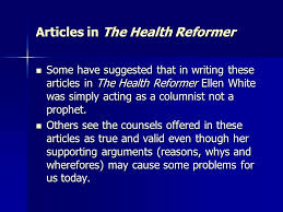 Counsels On Health Book Eg White In White S Writings The Writings Of G White Ppt