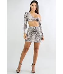 matching sets snake skin mini set luxe aloure