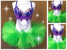 fancy ariel little mermaid inspired rave rave bra