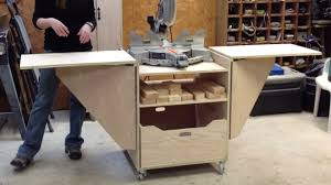 diy table saw stand with wheels diy miter saw stand youtube