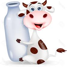 top cute cow cartoon with milk bottle stock vector file free