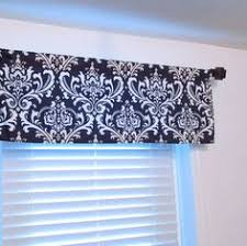 Damask Kitchen Curtains Storm Grey Damask Window Valance Rod Pocket Curtain Handmade In