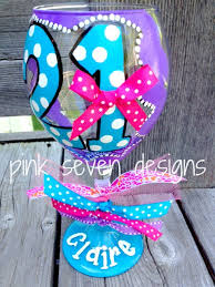birthday number wine glass polka dots by pinksevendesigns on etsy
