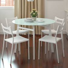 Small Glass Dining Table And 4 Chairs Dining Room White Dining Room Idea With White Dining Table Glass