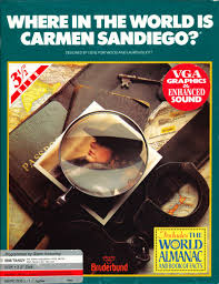 where in the world is carmen sandiego 1990 dos box cover art