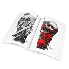 100 pages a4 mixed skull devil design tattoo art book flash sketch