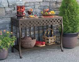 Outdoor Side Table Ideas by Beautiful Outdoor Console Table Outdoor Console Table