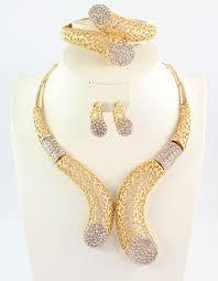 set of gold online get cheap gold wedding necklace set aliexpress