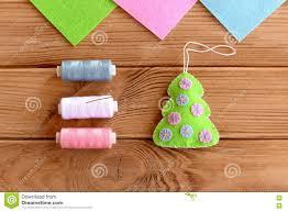 how to sew christmas decoration step green felt christmas tree
