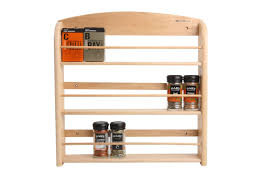 Wall Mount Spice Rack With Jars Decorating Mesmerizing Wooden Spice Rack 24 Jar With 3 Tier Shelf