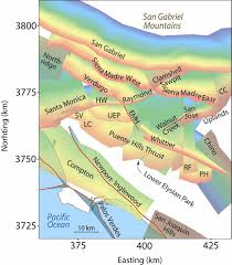 Earthquake Map Los Angeles by New Earthquake Model For Los Angeles Finds Some Faults Moving