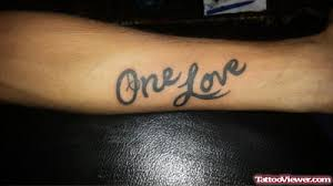 one love one life tattoo one love text grey ink tattoo on forearm golfian com