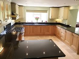 Countertops With Oak Cabinets 27 Best Black Pearl Granite Countertops Design Ideas