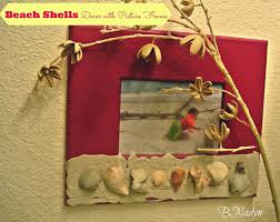 beach shells decor with picture frame tbccrafters link party