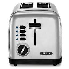 bella 2 slice toaster brushed stainless steel shopko