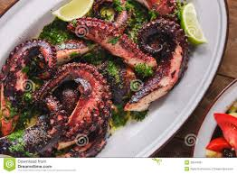 grilled octopus dish royalty free stock photography image 35544367