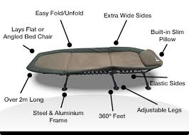 Folding Camp Bed Deluxe Wide Folding Camping Bed Stretcher Strong Foldable Camp