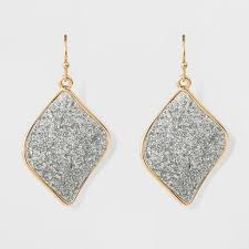 hanging earrings women s hanging earrings with glitter paper discs gold silver