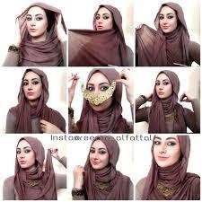 tutorial turban sederhana cara memakai hijab pashmina sederhana terbaru islamic fashion