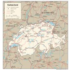 swiss map switzerland maps perry castañeda map collection ut library