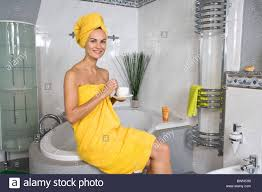 bath robe shower woman bathroom bath showering body care hygiene stock photo bath robe shower woman bathroom bath showering body care hygiene bathing cafe