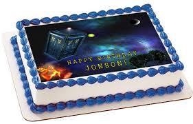 tardis cake topper dr who tardis edible birthday cake or cupcake topper edible