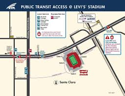 Bart Lines Map by Vta To Levi U0027s Stadium