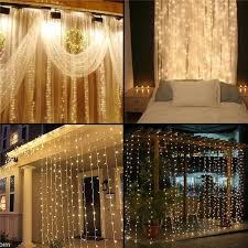 warm white led twinkle lights curtain string lights garden ls new year christmas icicle led