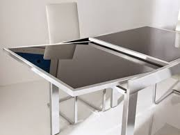 expandable glass dining room table expandable glass dining room