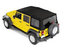 rugged ridge power soft top kit in black sailcloth for 07 15 jeep