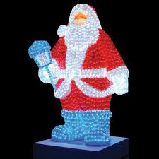 lighted led commercial grade santa claus