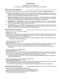 Finance Advisor Job Description Stunning Senior Financial Analyst Resume Cover Letter For Market