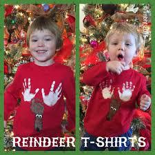 reindeer t shirts with footprints handprints my big happy