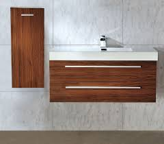 1000 mm wall hung walnut bathroom basin sink vanity side cabinet