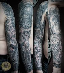 horror demon tattoo on chest for men in 2017 real photo pictures