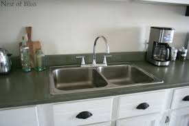 Kitchen Sink Paint by Remodelaholic How To Spray Paint Faux Granite Countertops