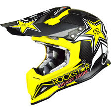 rockstar motocross helmet new just1 mx j12 rockstar 2 0 yellow black dirt bike carbon