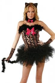 cat costume black shoulder chic womens cat costume pink
