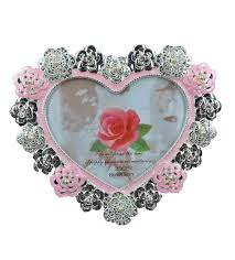 heart shape photo frame silver plated online gifts shopping india