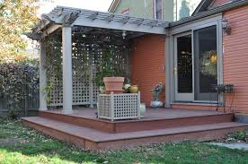 Deck Plans With Pergola by Small Deck Images Rear Deck And Pergola Build By Kent