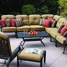 darlee elisabeth 12 piece cast aluminum patio sectional set end