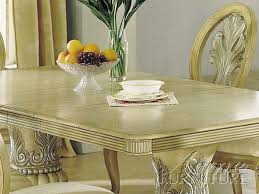 Antique Pedestal Dining Table Acme Furniture Acme 08664 Antique White Double Pedestal Dining