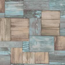 Faux Wood Wallpaper by Erismann Wooden Block Pattern Wallpaper Wood Effect Textured 7354 18