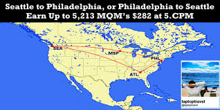 Delta Route Maps by Seattle To Philadelphia Delta Same Day Mileage Run 282 Hurry
