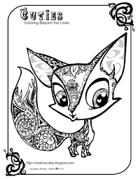 animal cuties coloring pages cute