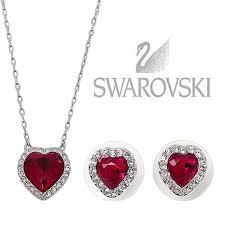 swarovski necklace red images Swarovski red heart pendant necklace pendant design ideas jpg