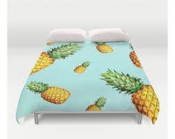 pineapple bedding etsy